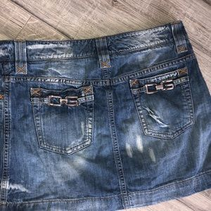 Dolce and gabbana skirt jean denim silver accent